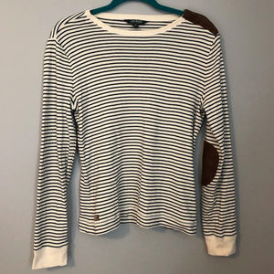 Ralph Lauren striped shirt with patch elbows